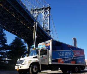 Manhattan Bridge Moving Truck